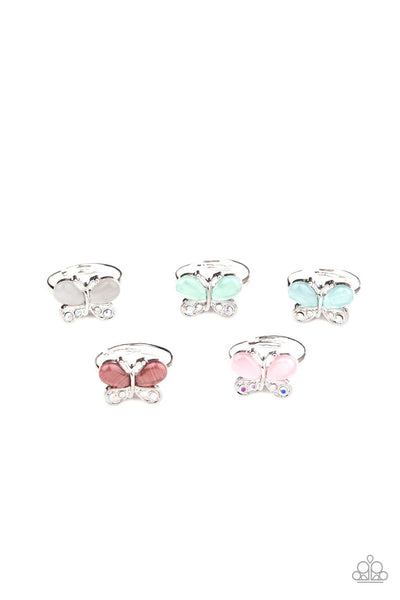 Paparazzi Starlet Shimmer Children's Cat's Eye Butterfly Ring Bundle - Princess Glam Shop