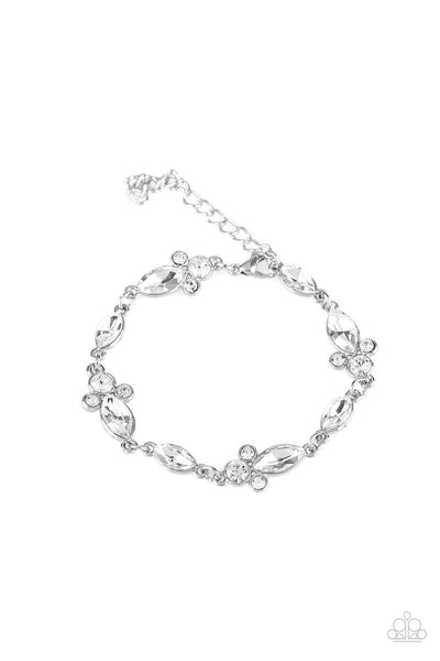 Paparazzi At Any Cost - White Bracelet - Princess Glam Shop