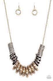 Paparazzi Haute Hardware - Brass Multi Necklace Set - Princess Glam Shop