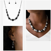 Paparazzi The Ruling Class Black Necklace Set - Princess Glam Shop