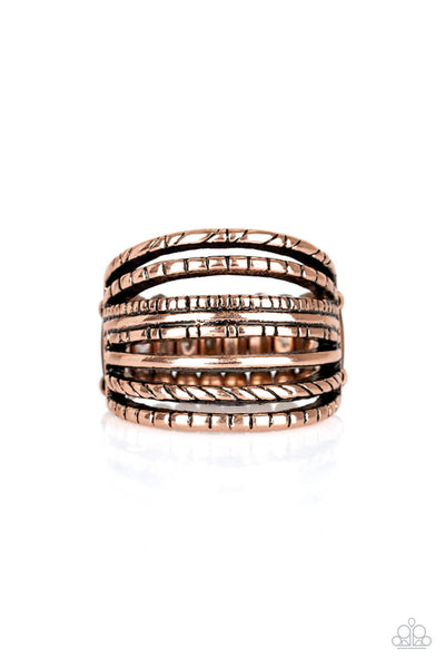 Paparazzi Basic Maverick Copper Ring - Princess Glam Shop