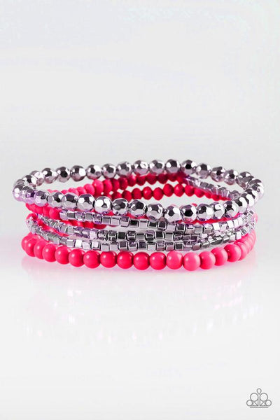 Paparazzi Colorfully Chromatic -Pink Bracelet - Princess Glam Shop