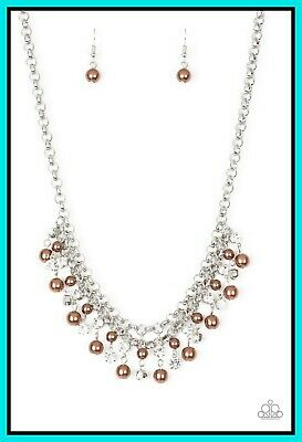 SOLD OUT Paparazzi You May Kiss the Bride - Brown Color Necklace Set - Princess Glam Shop