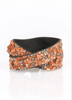 Paparazzi CRUSH To Conclusions - Brown Double Wrap Bracelet - Princess Glam Shop