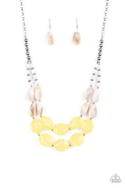 SOLD OUT Paparazzi Seacoast Sunset - Yellow Necklace Set - Princess Glam Shop