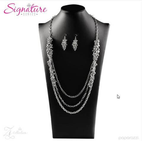 Paparazzi The Shelley - 2017 Signature Zi Collection Necklace Set - Retired - Princess Glam Shop