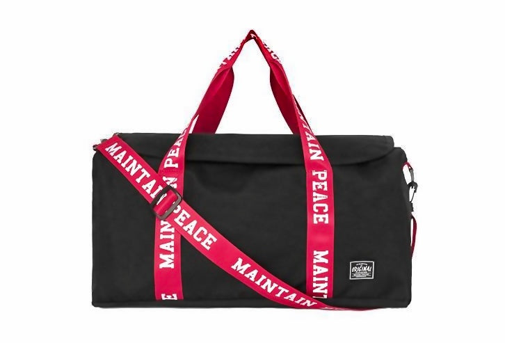 "Black x Red ""Maintain Peace"" Duffle - activ8te"