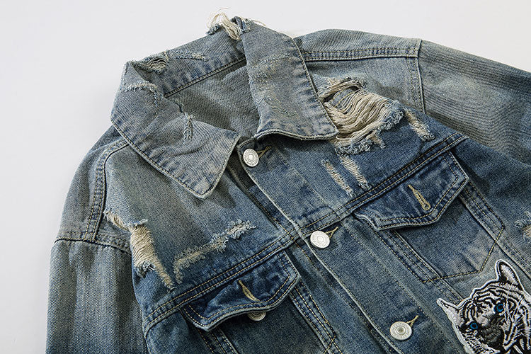 """Blue Tiger"" Denim Jacket - activ8te"