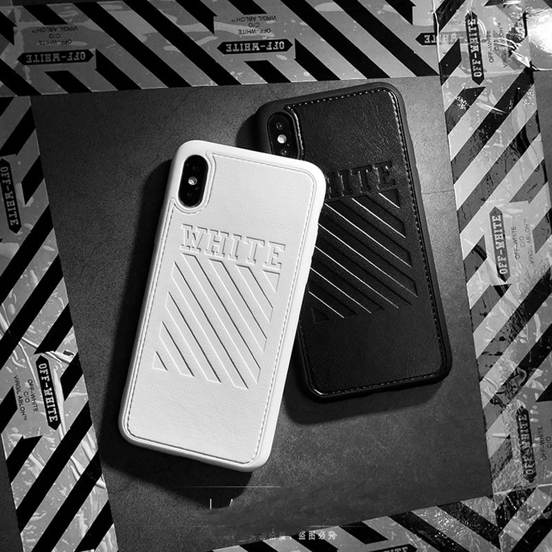 """White"" Leather iPhone Case - activ8te"