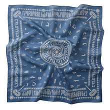 Load image into Gallery viewer, Silk scarf - Borjgalo - Blue