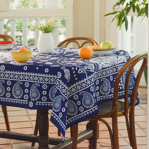 Kala (Blue) - Georgian Traditional Blue Tablecloth
