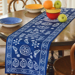 Trapezi - Georgian Traditional Blue Tablecloth