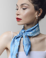 Load image into Gallery viewer, Silk scarf - Madatovi - Light blue