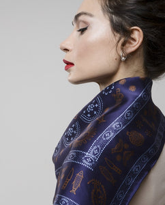Silk scarf - Meidan - Purple