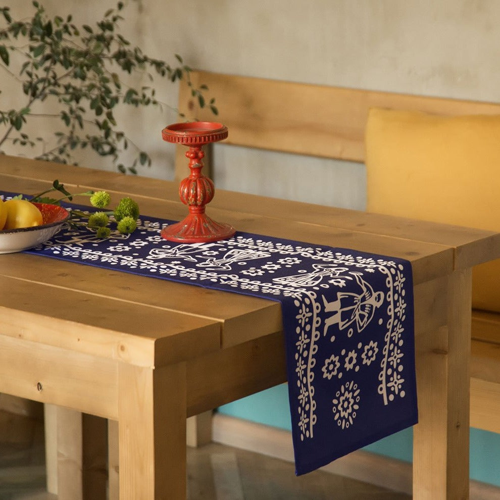 Chorsu (Blue) - Georgian Traditional Blue Tablecloth