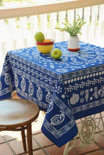 Load image into Gallery viewer, Trapezi - Georgian Traditional Blue Tablecloth