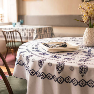 Metekhi - Georgian Traditional Blue Tablecloth