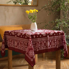 Load image into Gallery viewer, Kala (Red) - Georgian Traditional Blue Tablecloth