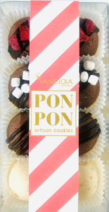 8pcs PONPON Cookie Box - Chocolate Lovers Collection Flavour Assortment