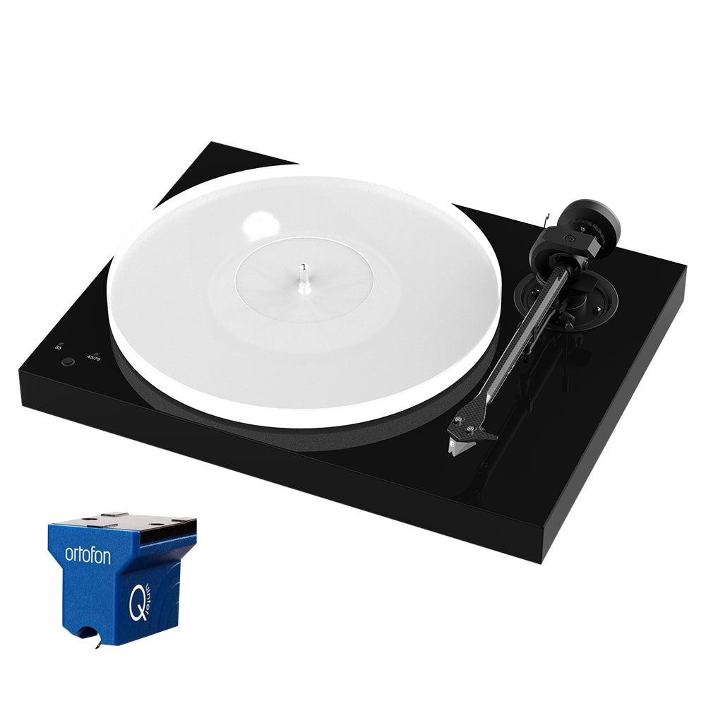 Project X1 Turntable - with Ortofon Quintet Blue - Gloss Black