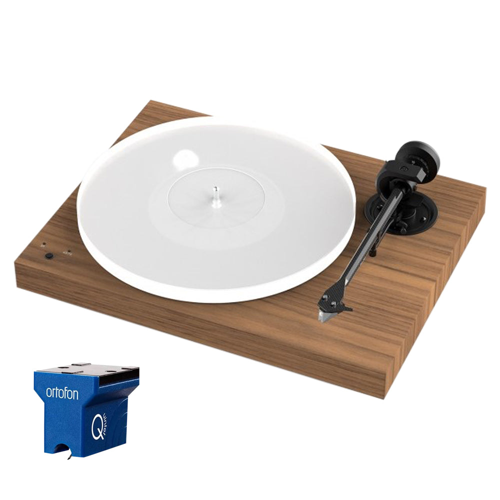 Project X1 Turntable - with Ortofon Quintet Blue - Walnut
