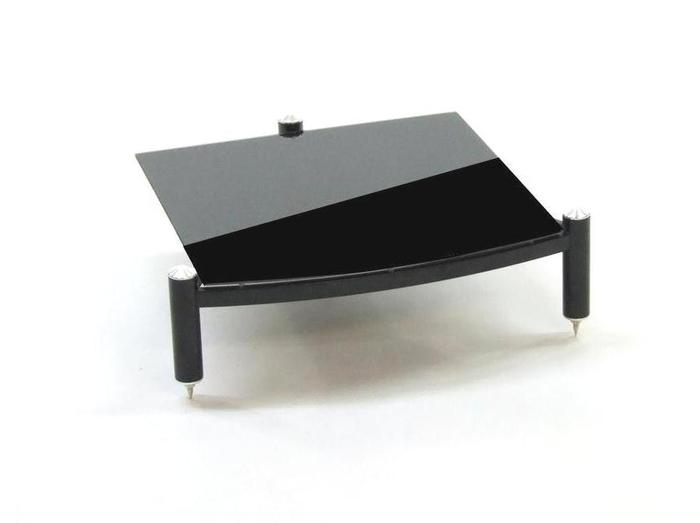 Atacama EQUINOX SINGLE SHELF MODULE HIFI RS 145MM - BLACK GLASS