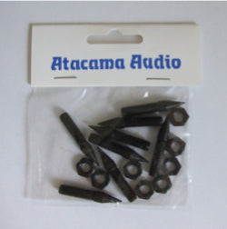 Atacama M6 CARPET SPIKES C/W LOCK NUTS - SET OF 8