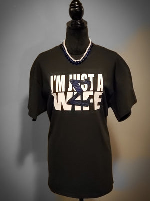 Sigma Wife  (Royal Blue Sigma) - Womens T - Shirt