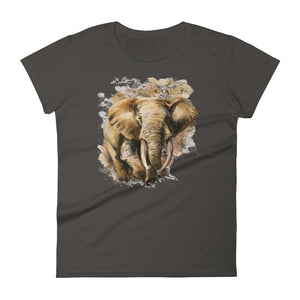 Wild Elephant- Women's short sleeve t-shirt