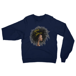 Made with Melanin - Unisex Long Sleeve Fleece Raglan Sweatshirt