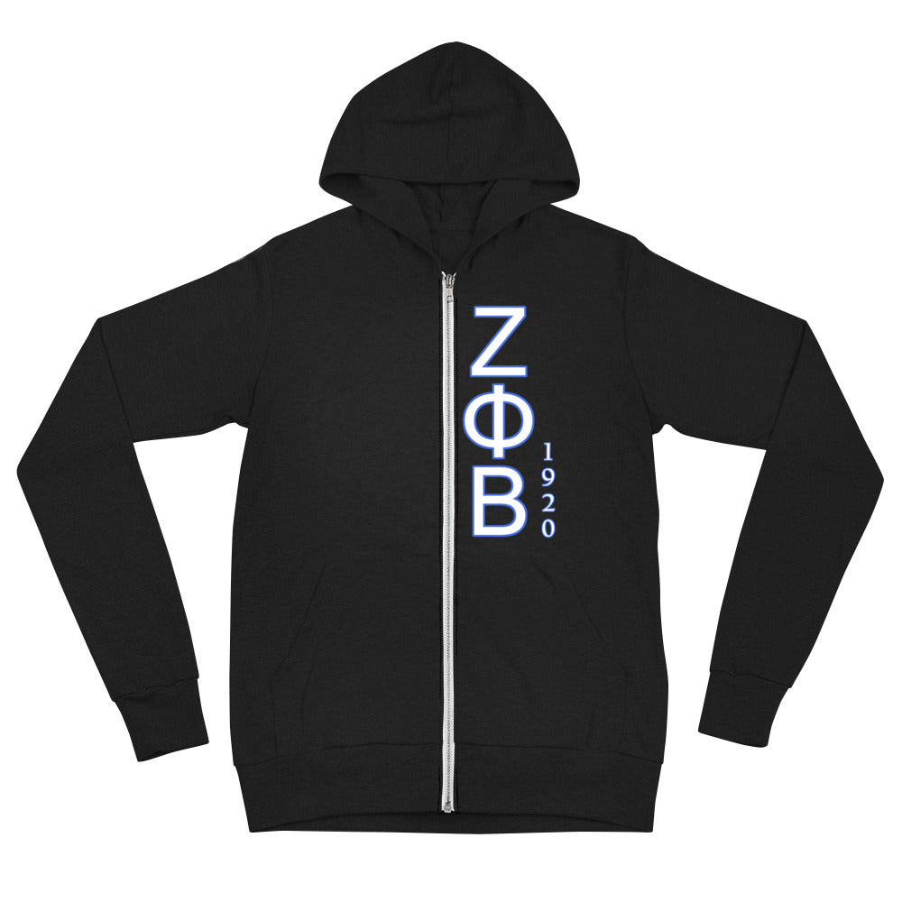 Zeta Phi Beta - Lightweight Women's zip hoodie