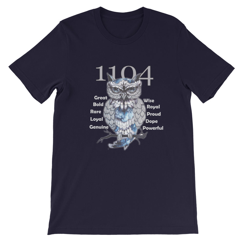 1104 Owl - Short-Sleeve Unisex T-Shirt