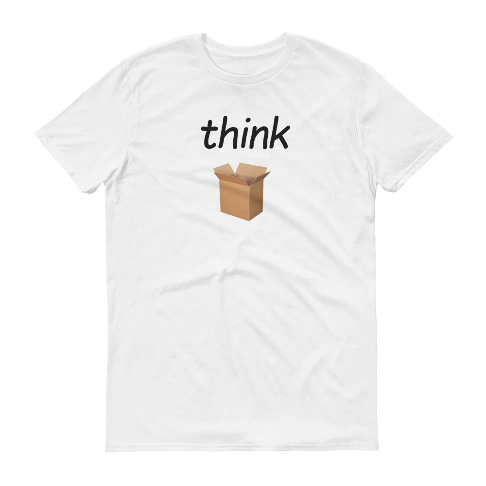 Think Outside (Black Text) - Men's Short-Sleeve T-Shirt