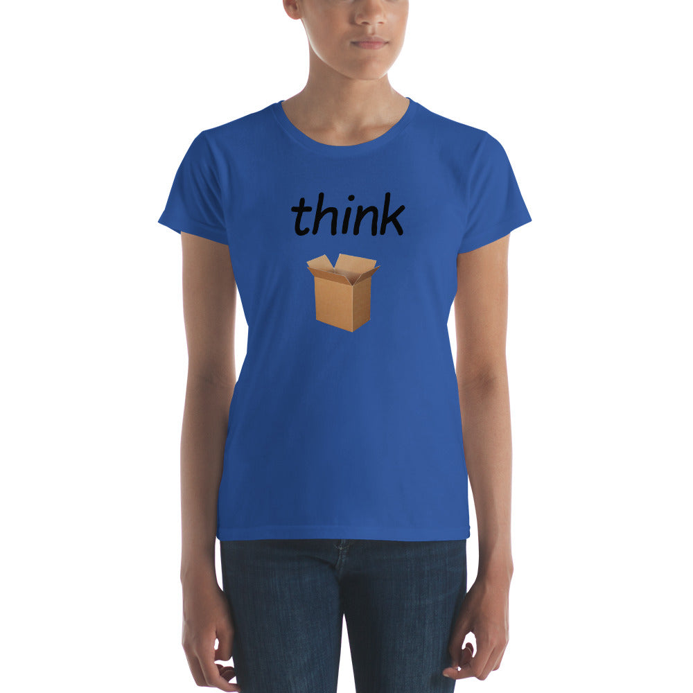 Think Outside (Black Text) - Women's short sleeve T-shirt