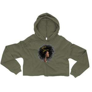Made with Melanin - Women's Crop Hoodie