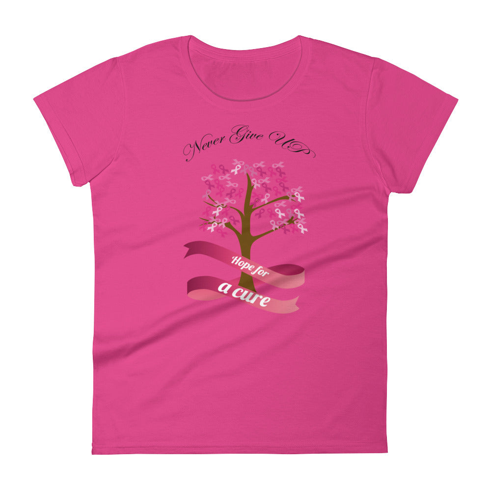 BCA - Never Give Up - Black - Women's short sleeve t-shirt