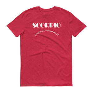 Scorpio (White Text) Men's Short-Sleeve T-Shirt