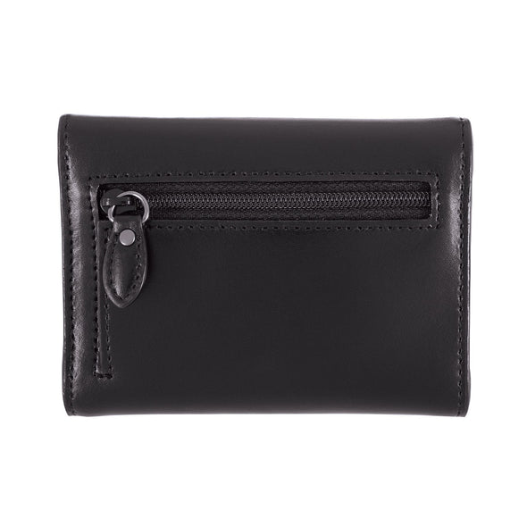 Audrey RFID Mallory French Purse in Black/Black