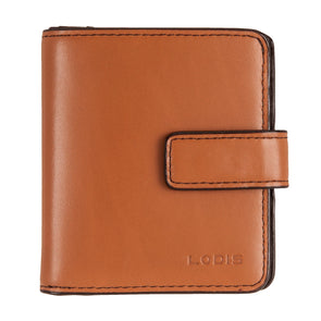 Audrey RFID Petite Card Case Wallet in Toffee