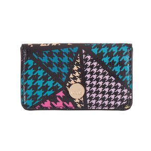 Houndstooth RFID Mini Card Case