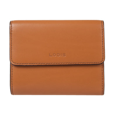Audrey RFID French Purse with Removable ID Holder in Toffee