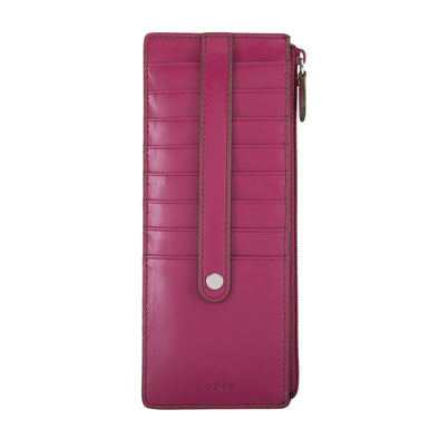 Audrey RFID Credit Card Case with Zipper Pocket F8