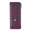 Audrey RFID Credit Card Case with Zipper Pocket F9