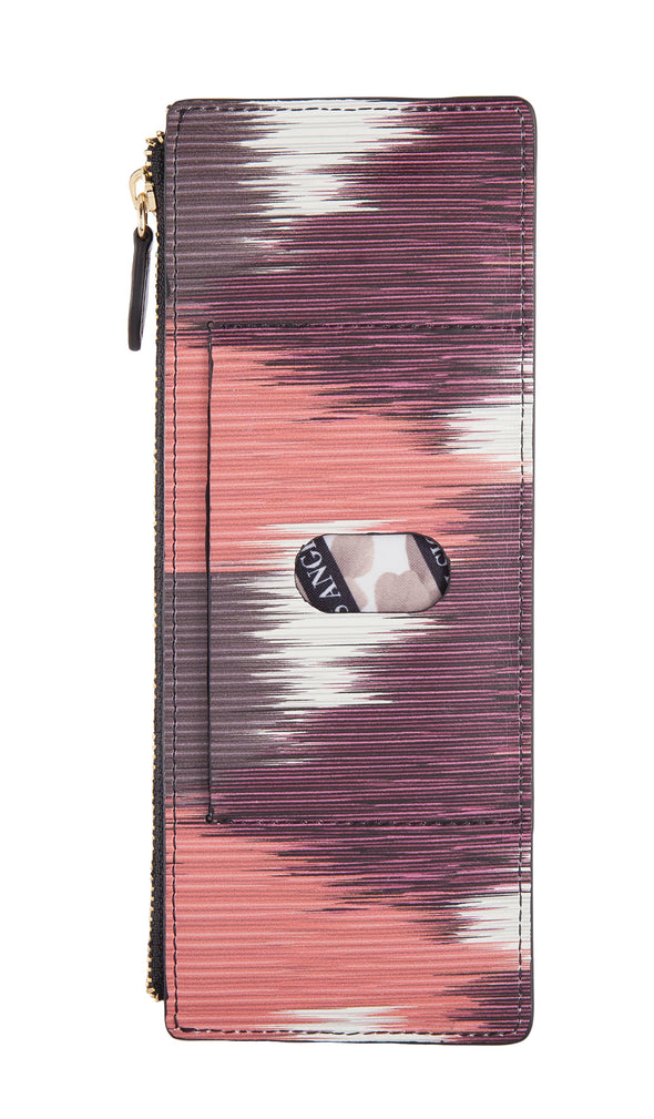 Boho RFID Credit Card Case with Zipper Pocket