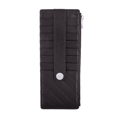 Carmel Credit Card Case with Zipper Pocket