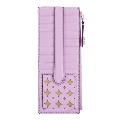 Laguna Perf RFID Credit Card Case with Zipper Pocket