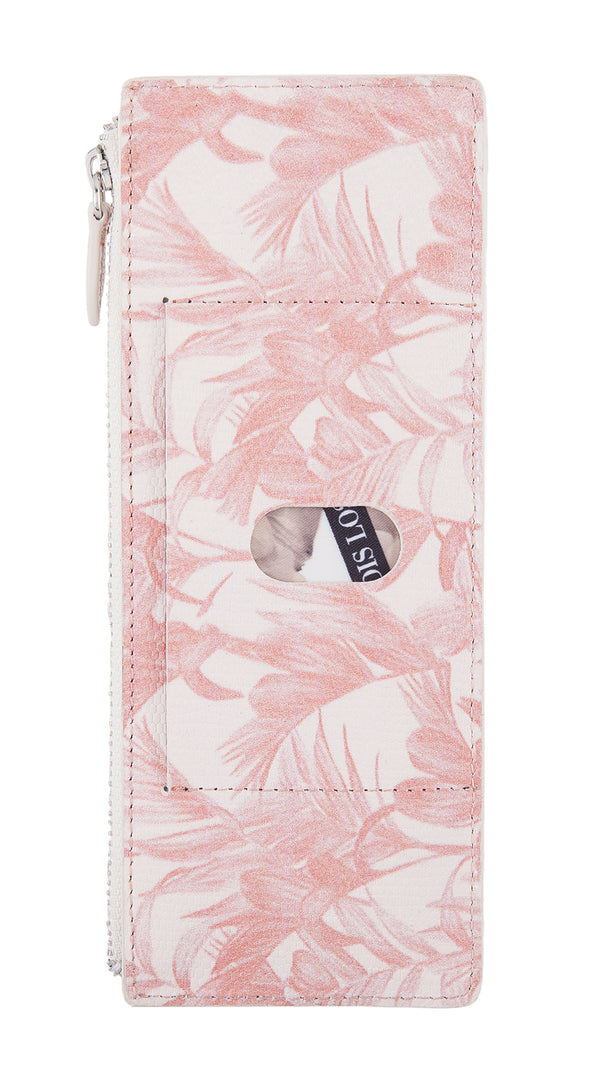 Palm RFID Credit Card Case with Zipper Pocket