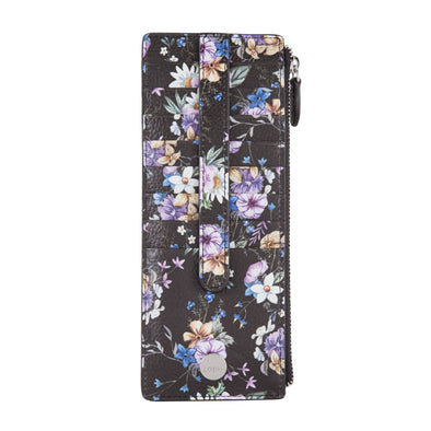 Posy RFID Credit Card Case with Zipper Pocket