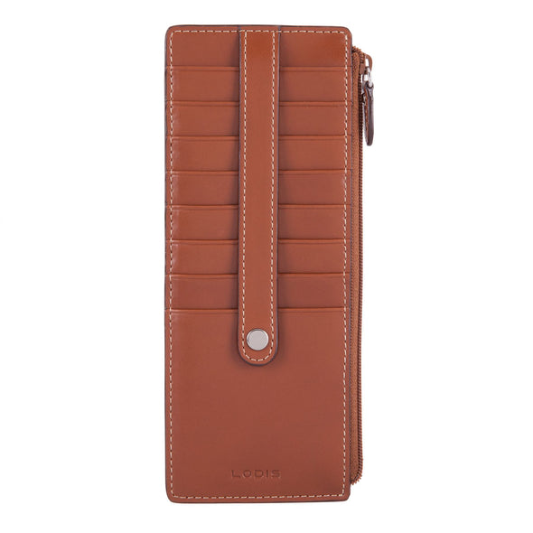 Audrey RFID Credit Card Case with Zipper Pocket