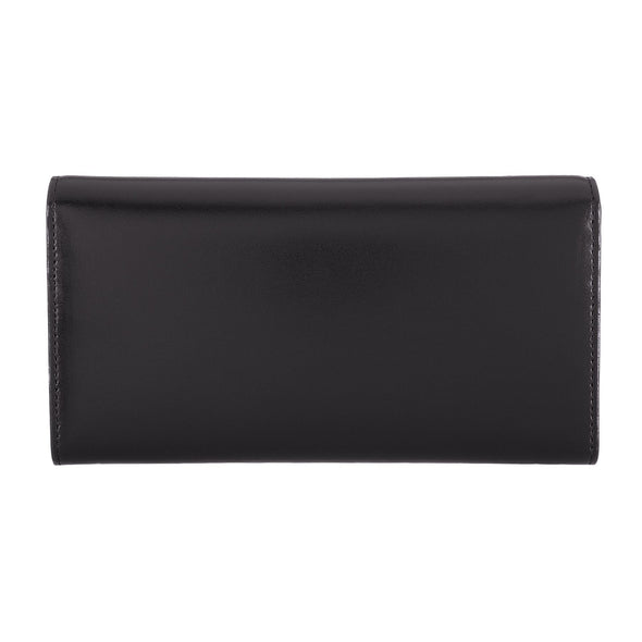 Audrey RFID Luna Clutch Wallet in Black/Black